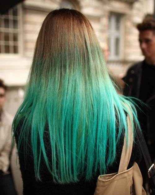 Blonde to blue ombre hair tumblr