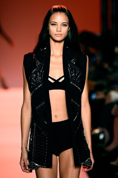 Herve Leger by Max Azria goes warrior at NYFW