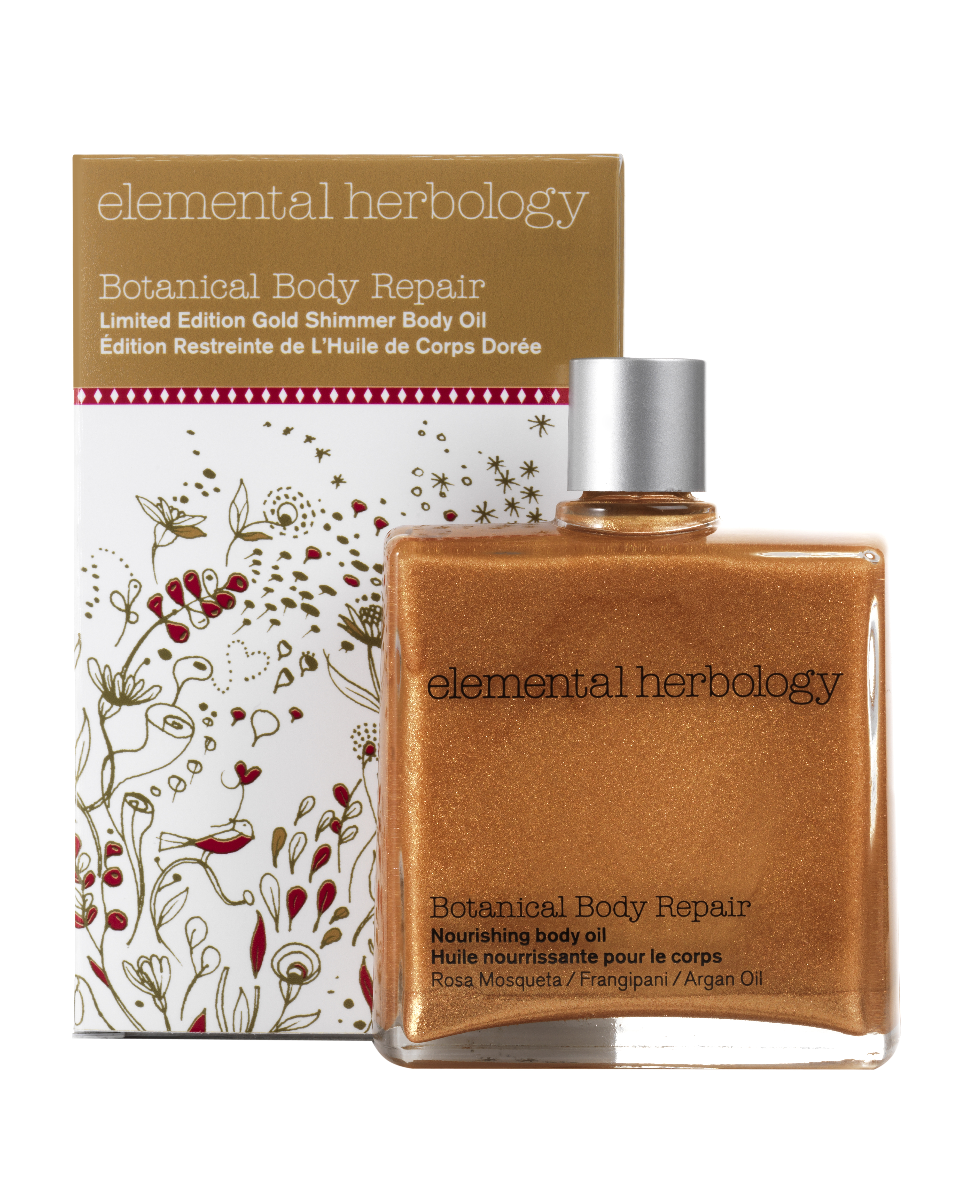 Elemental Herbology_Botanical Body Repair Gold Shimmer Body Oil
