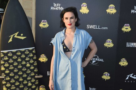 Actress Rumer Willis attends Buff Monster x Minions x Rusty Lost in Paradise Capsule Collection launch event on July 28, 2016 in Santa Monica, California. (Photo by Joshua Blanchard/WireImage)