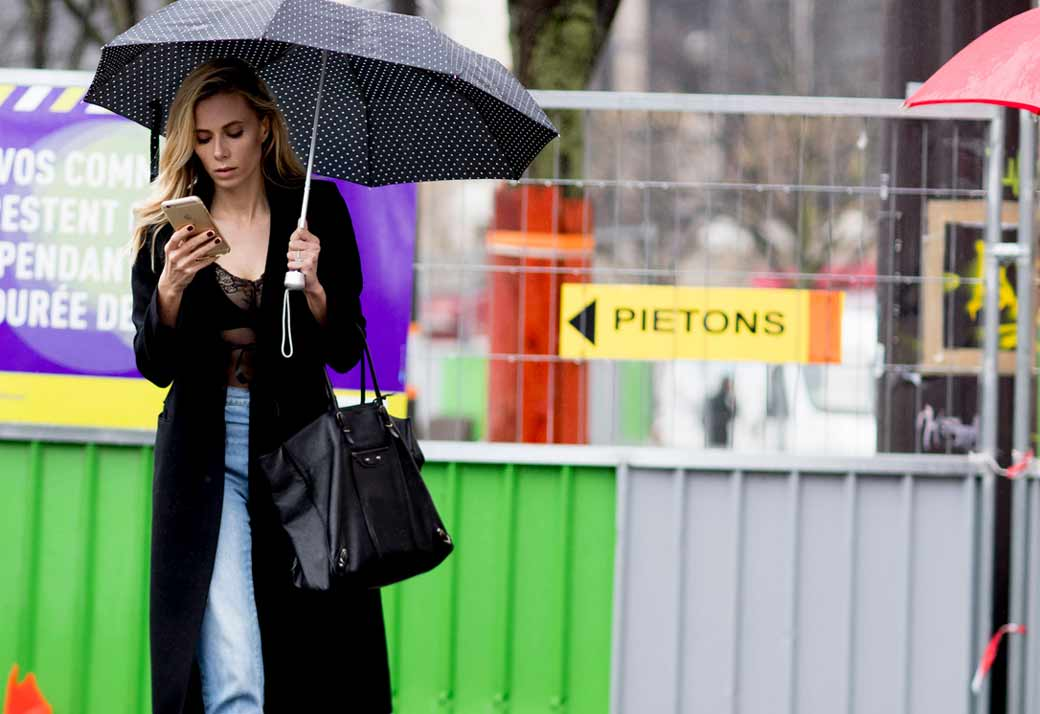 TRENCH warfare at PARIS FASHION WEEK