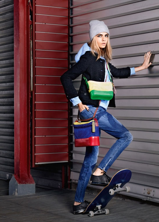 Cara in the New Chanel campaign, do we know if she actually skates?